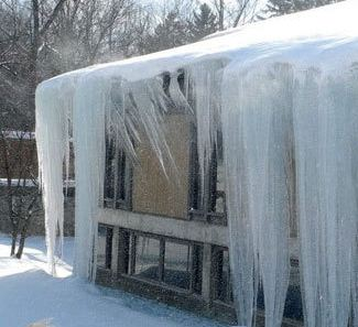 large amount of ice formations
